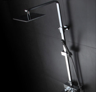 Shower elevating rack